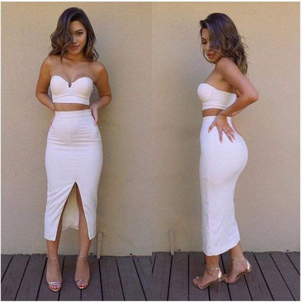 All white skirt and top set – Modern skirts blog for you