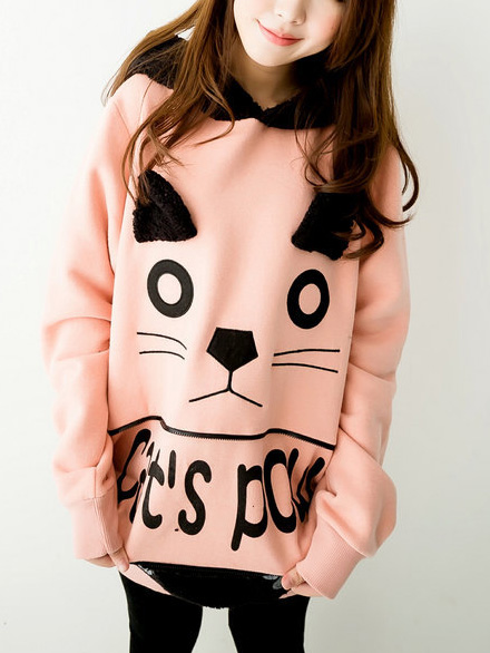 wholesale fashion cat jacket Cat ears hoody young girl school wear sweatshirt outerwear female spring and autumn promotion-inHoodies & Sweatshirts from Apparel & Accessories on Aliexpress.com