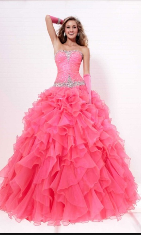 Debs Dresses Online Ireland – Buy Cheap Pink Ball Gown Floor-length ...