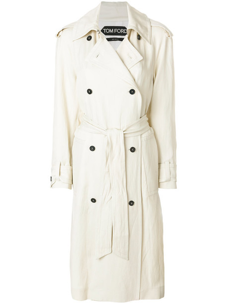 Tom Ford coat trench coat women white silk