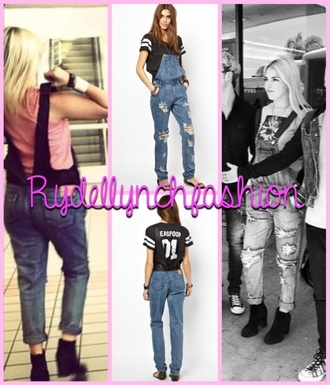 jumpsuit denim overalls rydel lynch