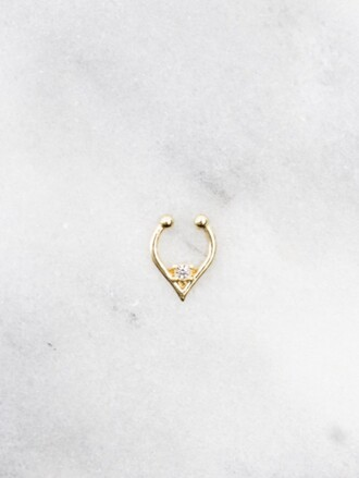 jewels septums fake septum fake nose ring jewelry accessories