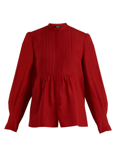A.P.C. top red