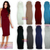Ladies Womens Polo Turtle Neck Sleeveless Long Stretch Bodycon MIDI Dress 814 | eBay