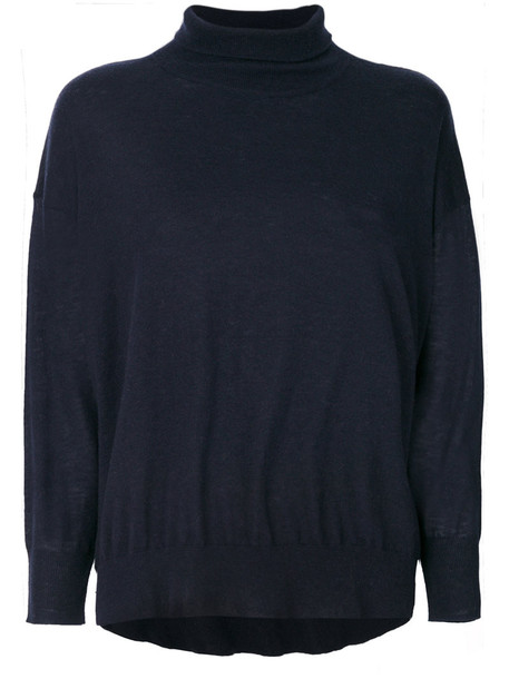 jumper women cotton blue wool sweater