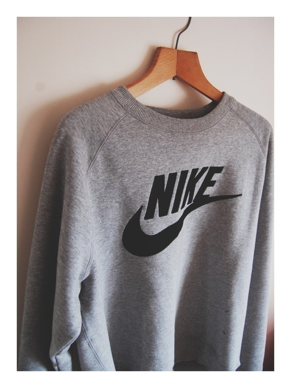 Nike - Brushed Dark Grey Heather - Sweater - Streetwear Online ...