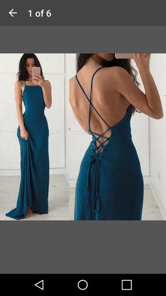dress blue dress strappy dress