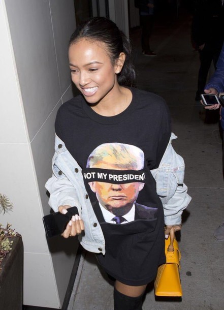 shirt not my president twitter find karrueche black