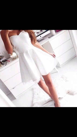 white dress style strapless dresses simple dress