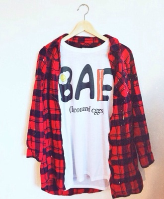 t-shirt bae bacon eggs bacon and eggs white t-shirt