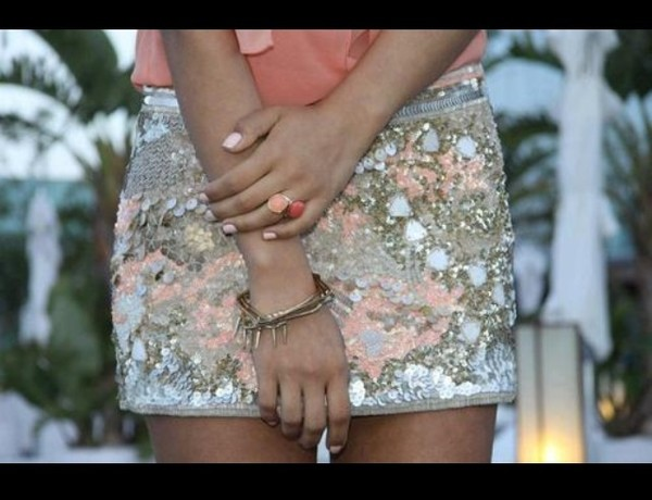 skirt sequin skirt