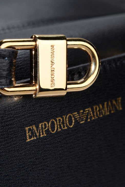 Borsa a Mano Donna Emporio Armani - BAULETTO IN PELLE PALMELLATA Emporio Armani Official Online Store