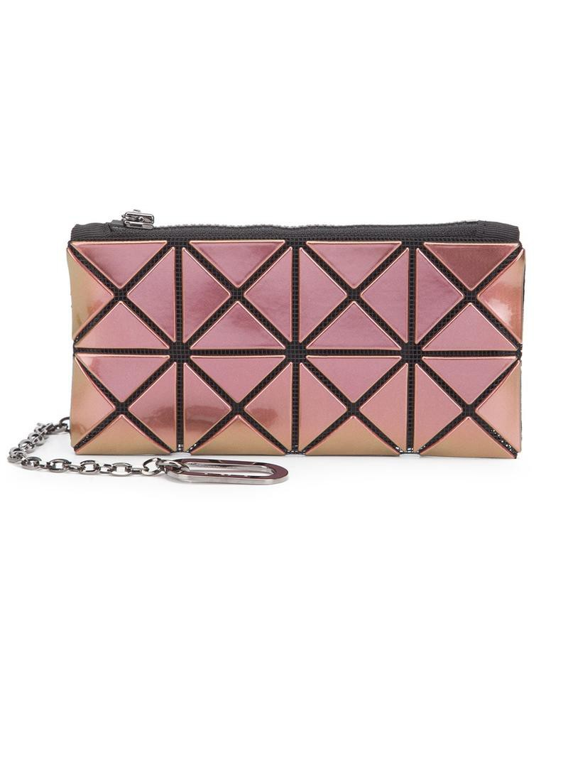 Bao Bao Issey Miyake 'Prism' pass case purse, Women's, Pink/Purple, Polyester/PVC