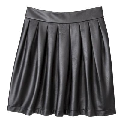 Xhilaration® Juniors Faux Leather Skirt - Black : Target