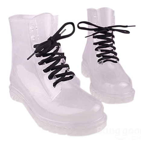 Transparent boots · just fashion ·