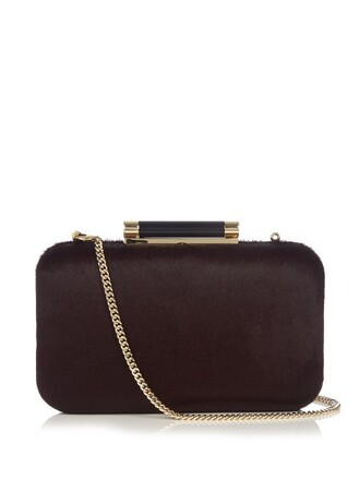 clutch burgundy bag