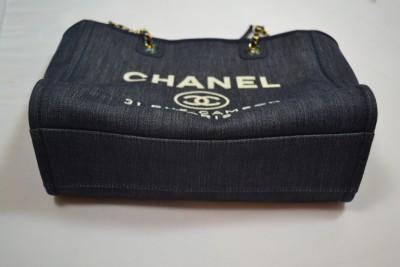60f0825690ba Chanel New 31 Rue Cambon Paris Denim Navy Blue Marine Chain ...