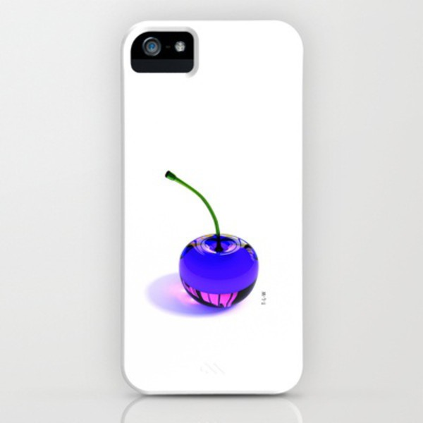 phone cover cherrys phone cover purple