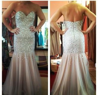dress prom dress long prom dress beige dress