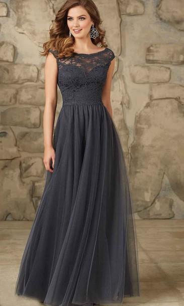 Dress Gray Bridesmaid Dresses Long Dress Long Bridesmaid Dress