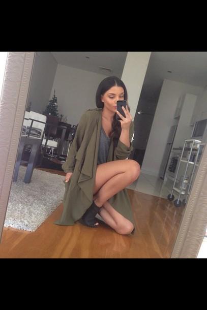 coat Khaki coat coat