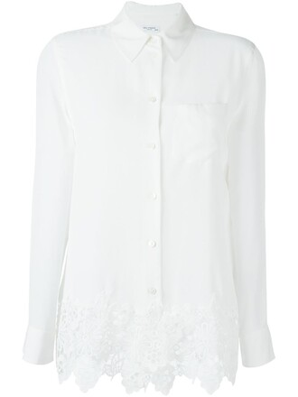 shirt embroidered white top