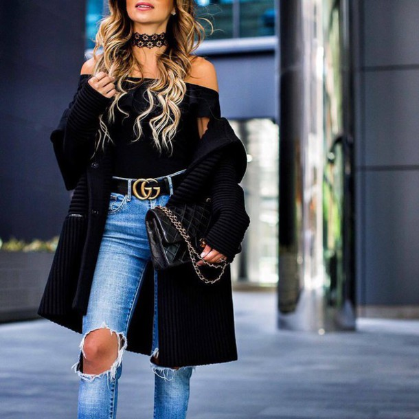 91b86962a7a47 coat tumblr black coat top black top off the shoulder off the shoulder top  necklace choker