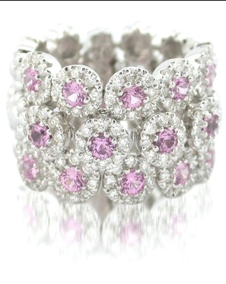 jewels white gold pink diamond ringng