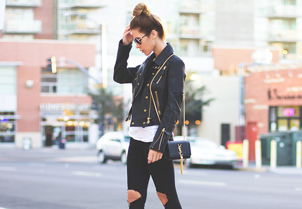 sunglasses jacket tank top bag