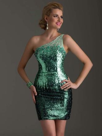 dress green shinny sparkly dress