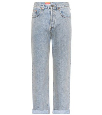 jeans embroidered cotton blue