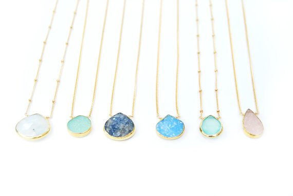 Any Color Druzy Necklace - Knee Deep Denim