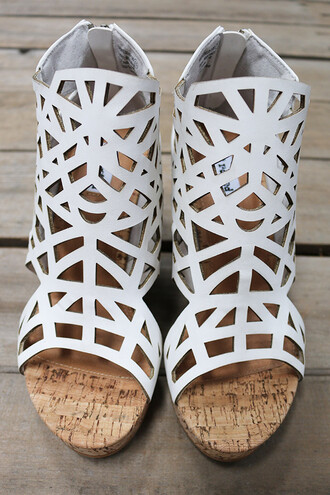 shoes summer beach wedges heels high heels white sandals cork caged amazinglace