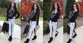 pants,sweatpants,fashion,dressy,casual,black,white,skull,scarf,winter outfits,fall outfits,fashionista,dress