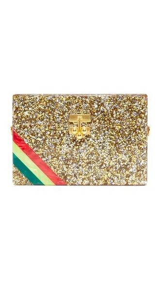 clutch gold silver bag
