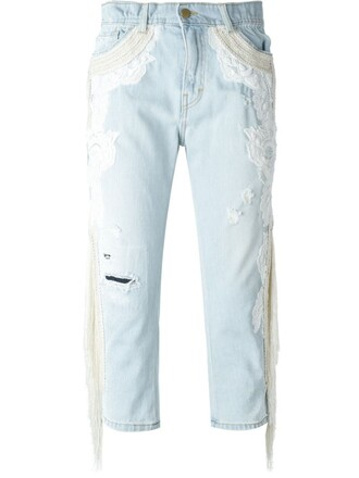 jeans embroidered jeans embroidered blue