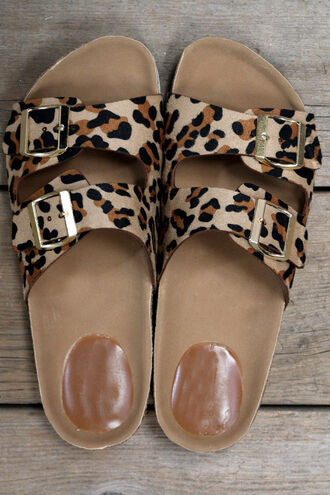 shoes white bottoms white sole sole white leopard print amazinglace sandals summer beach birkenstock style