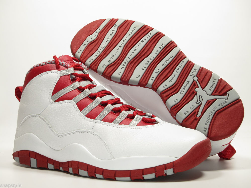 new concept 7c816 c48ed sweden new air jordan 10 retro 2005 white varsity red light steel grey  310805 161 ebay