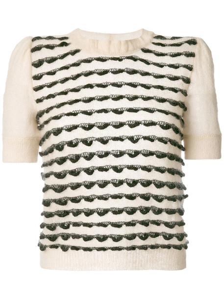 Emporio Armani sweater short women mohair nude wool