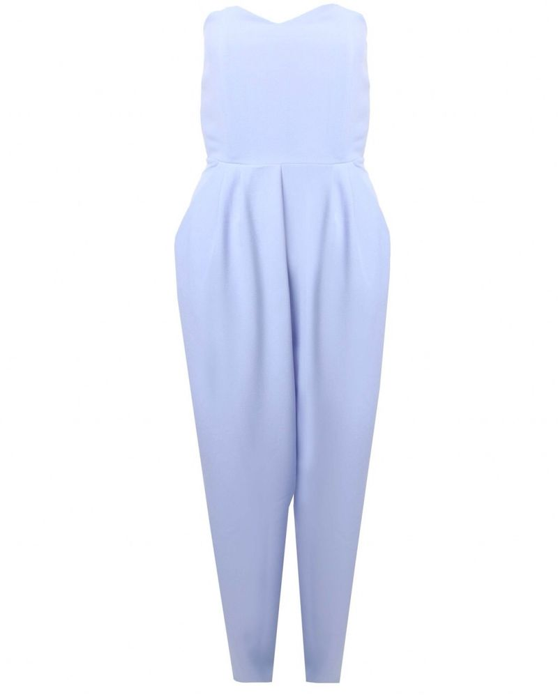 at TOPSHOP Powder Blue Strapless Jumpsuit | eBay