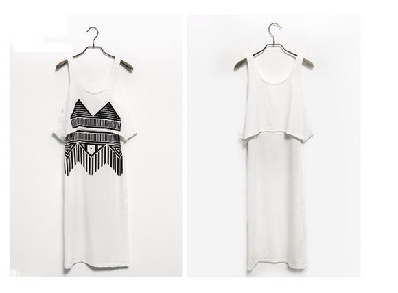 tribal tribal skirt dress maxi dress white maxi dress black maxi dress maxi maxi skirt tribal print dress tribal pattern tribal shirt tribal designs tribal print geometric geometric dress geometric print geometrical summer trend summer summer dress sleveless black and white girly Girly cute summer fashion 2 piece