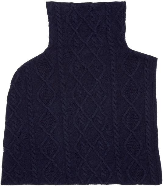 Stella McCartney scarf navy