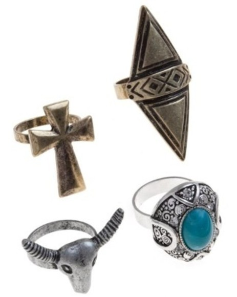indie hippie jewels ring cross turquoise jewelry hippie chic