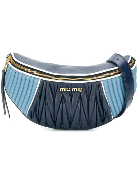 Miu Miu belt bag women bag blue