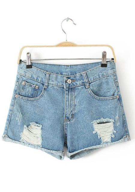 Out design denim shorts online