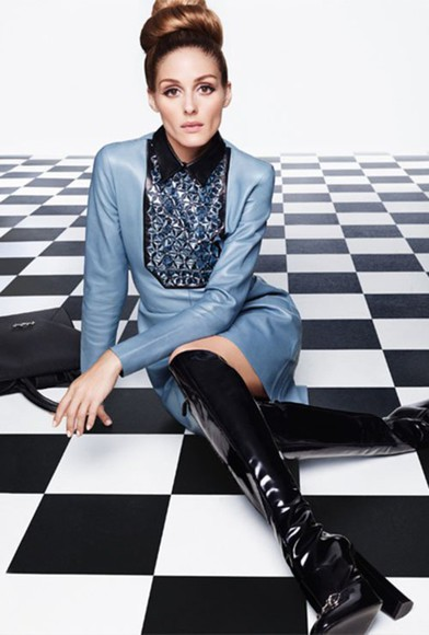 olivia palermo dress boots leather gucci