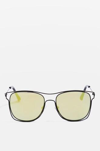 metal sunglasses black