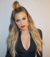 top,make-up,hair,hairstyles,khloe kardashian,kardashians,keeping up with the kardashians,instagram,leotard