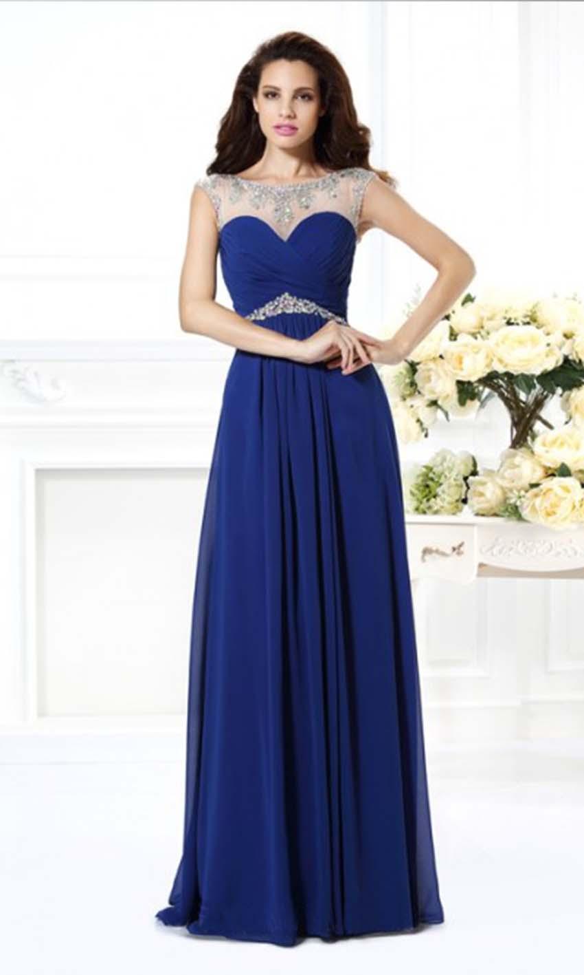 Blue Illusion Long Lace Prom Dresses UK KSP346 [KSP346] - £94.00 ...