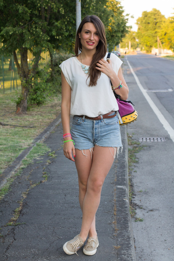 style and trouble bag shorts shoes jewels shirt